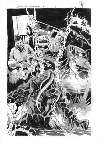 Francesco Mobili Original Art Avengers: Curse of the Man-Thing #1 Page 3