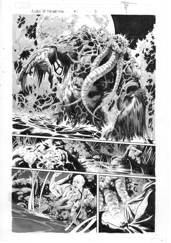 Francesco Mobili Original Art Avengers: Curse of the Man-Thing #1 Page 5