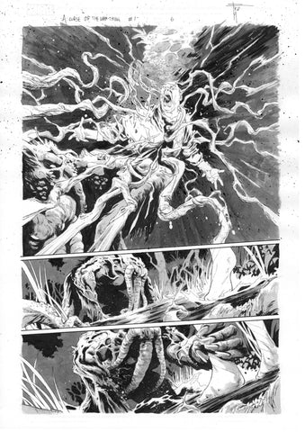 Francesco Mobili Original Art Avengers: Curse of the Man-Thing #1 Page 6