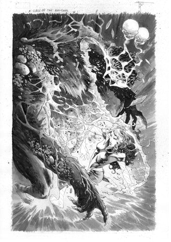 Francesco Mobili Original Art Avengers: Curse of the Man-Thing #1 Page 8 (First Splash Harrower)