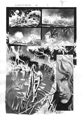 Francesco Mobili Original Art Avengers: Curse of the Man-Thing #1 Page 9