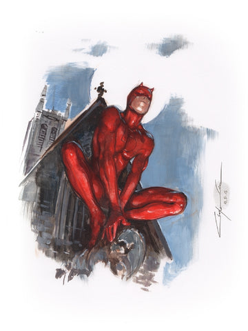 Clayton Crain Original Art Daredevil Painted Art