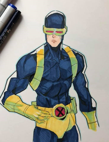 Jon Lam Original Art Cyclops Colour Illustration