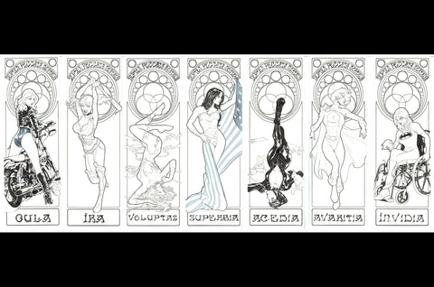 Emilio Laiso Original Art Seven Deadly Sins Full Set