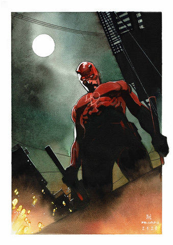Dike Ruan Original Art Daredevil Illustration