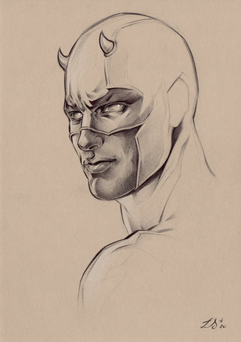 Stephanie Lavaud Original Art Daredevil Sketch
