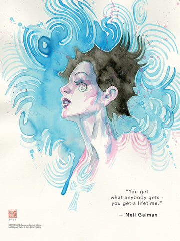 "David Mack & Neil Gaiman Neverwear.net Official Death 12x16"" Limited Edition Giclee"