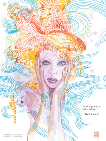 "David Mack & Neil Gaiman Neverwear.net Official Delirium 12x16"" Limited Edition Giclee"