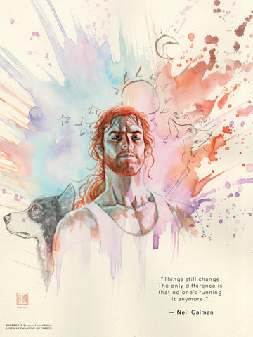 "David Mack & Neil Gaiman Neverwear.net Official Destruction 12x16"" Limited Edition Giclee"