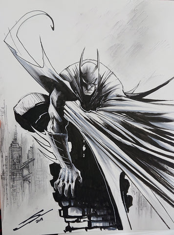 Gerardo Sandoval Original Art Batman Illustration