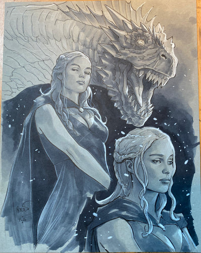 Paul Renaud Original Art Daenerys Targaryen Study Illustration 2