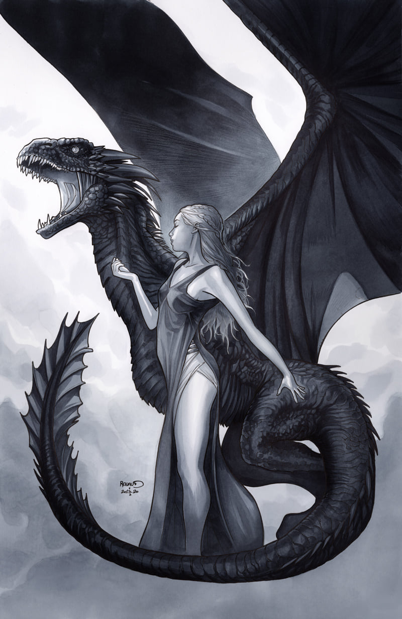 Paul Renaud Original Art Daenerys Targaryen Game of Thrones Poster Illustration
