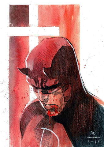 Dike Ruan Original Art *New Collection* Daredevil Illustration