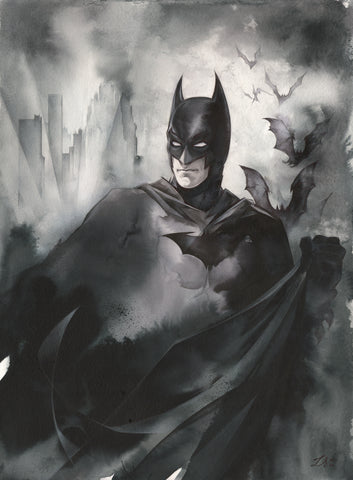 "Stephanie Lavaud Original Art 16x22"" Mega Sized Batman Illustration"