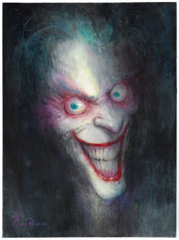 Casey Parsons Original Art Joker Illustration