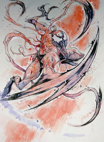 Iban Coello Original Art Carnage Painted Illustration