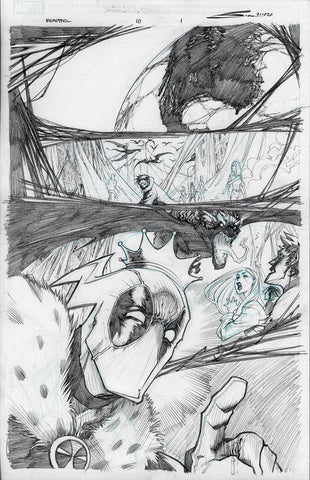 Gerardo Sandoval Original Art Deadpool #10 Page 1