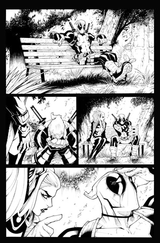 Victor Nava Original Art Inks Deadpool #5 Page 1