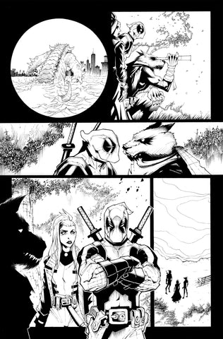 Victor Nava Original Art Inks Deadpool #5 Page 4