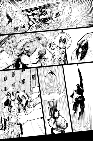 Victor Nava Original Art Inks Deadpool #5 Page 6