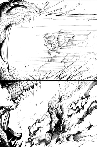 Victor Nava Original Art Inks Deadpool #5 Page 9