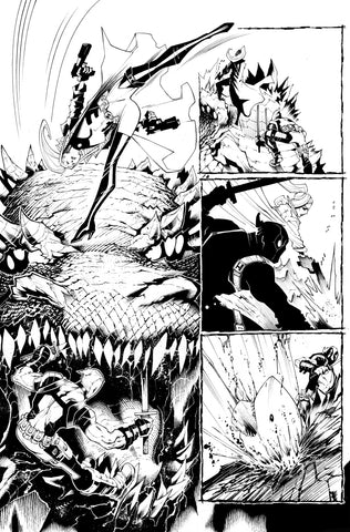 Victor Nava Original Art Inks Deadpool #5 Page 13