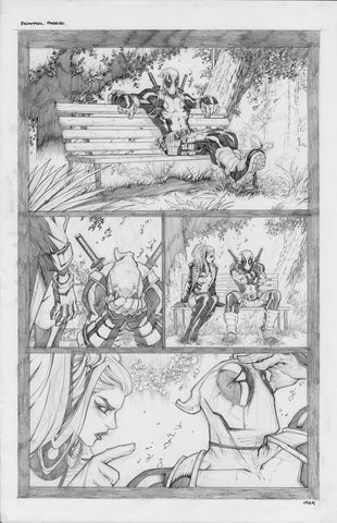 Gerardo Sandoval Original Art Deadpool #5 Page 1
