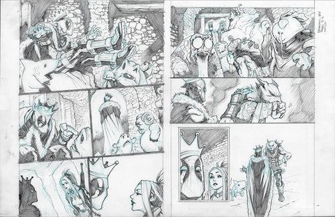 Gerardo Sandoval Original Art Deadpool #7 Page 3-4