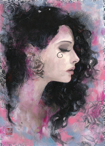 Zu Orzu Original Art Death Sandman Collection