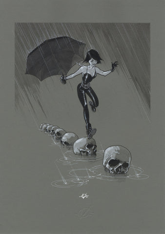 Olivier Vatine Original Art Death Sandman Collection