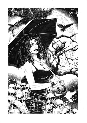 Riccardo Latina Original Art Death Sandman Collection