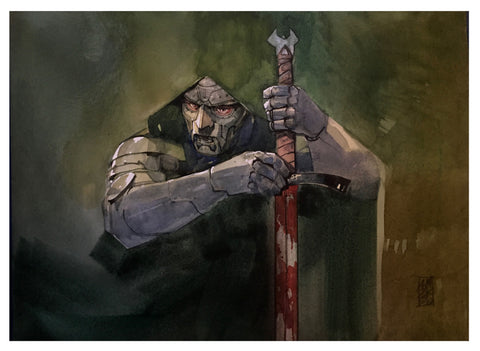 Alex Maleev Original Art Doctor Doom Illustration