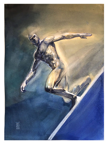 Alex Maleev Original Art Silver Surfer Illustration