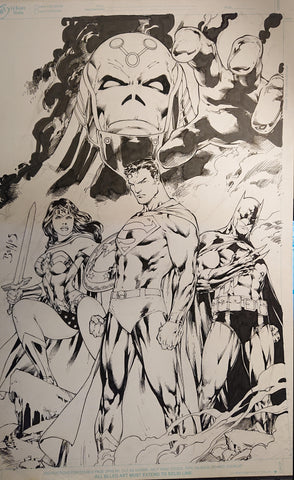 Ed Benes Original Art DC Online Cover Art