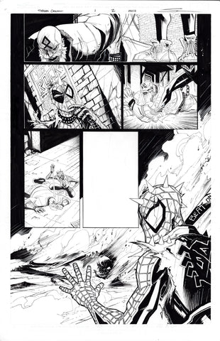 Gerardo Sandoval Original Art Edge of Spider-Geddon #1 Page 2