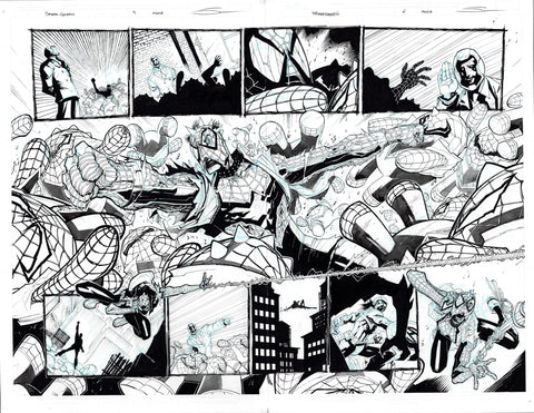Gerardo Sandoval Original Art Edge of Spider-Geddon #1 Page 5-6