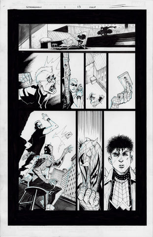 Gerardo Sandoval Original Art Edge of Spider-Geddon #1 Page 13