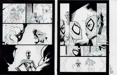 Gerardo Sandoval Original Art Edge of Spider-Geddon #1 Page 19-20