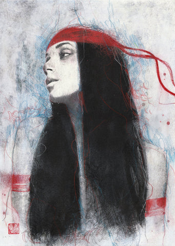 Zu Orzu Original Art Elektra Illustration