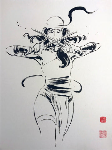 David Mack Original Art Elektra #1 Brush & Ink Collection 2