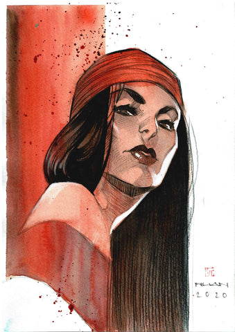 Dike Ruan Original Art *New Collection* Elektra Illustration