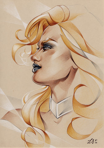 Stephanie Lavaud Original Art Emma Frost Illustration