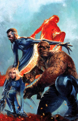 SIGNED Fantastic Four Lithograph by Gabriele Dell'Otto