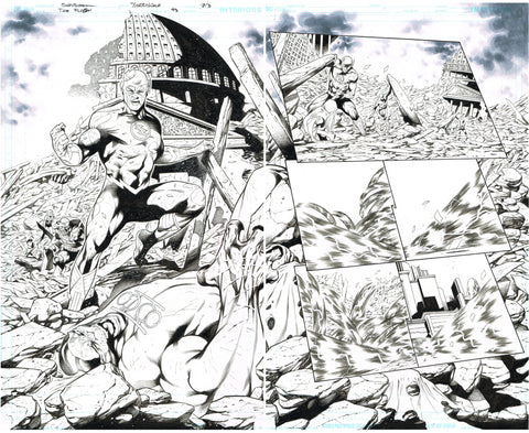 Rafa Sandoval Original Art Flash #754 Page 2-3 Double Page Spread