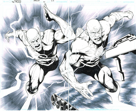 Rafa Sandoval Original Art Flash #754 Page 4-5 Double Page Spread