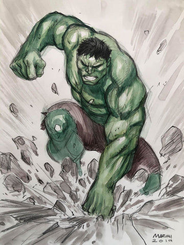 Enrico Marini Original Art Hulk 1 Illustration