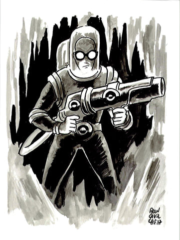 Francesco Francavilla Original Art Mr Freeze