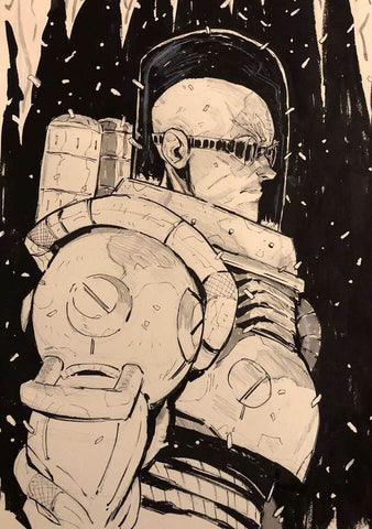 Jon Lam Original Art Mr Freeze 1 Illustration