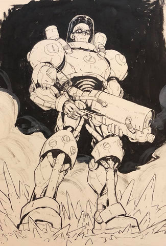 Jon Lam Original Art Mr Freeze 2 Illustration