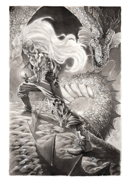 Francesco Mobili Original Art Goku Dragon Ball Z Illustration